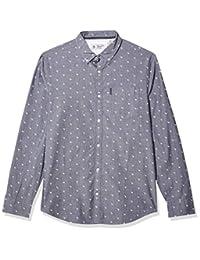 Original Penguin 男式長袖印花系扣襯衫