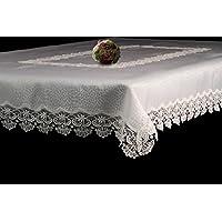 Geneva 蕾丝装饰长方形优雅桌布 白色 60x102 43235-212846