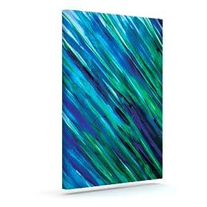 Kess InHouse Theresa Giolzetti Set 蓝色户外帆布墙壁艺术,60.96 x 76.20 厘米