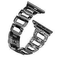 Apple Watch 38MM 42MM 手表表带,Apple Watch Series3,2,1,iWatch 腕带不锈钢金属 D 风格手表带优质钻石表带 42mm