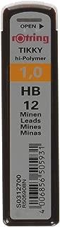 Rotring 紅環 Hi-Polymer 替換筆芯 用于精細機械鉛筆 0.50 毫米 HB 2 × 12 筆芯 Hi-Polymer HB 1.00 mm