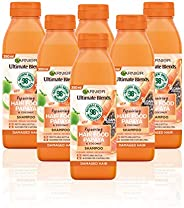 Garnier Ultimate Blends 木瓜*食品洗發露 適用于受損發質,350毫升