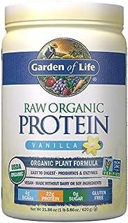 Garden of Life 含维生素和益生菌 素食蛋白粉 - 植物蛋白质奶昔 香草味 22.0oz (1 lb 6 oz / 624g) 蛋白粉