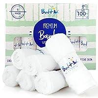 竹制婴儿毛巾* – 柔软棉混纺,非常适合面部毛巾、手部、敏感皮肤和新生儿 – 天然可重复使用的湿巾和*吸收 – 完美的新生儿必需品。