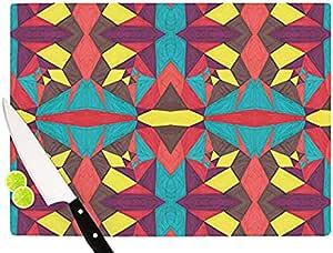 "Kess InHouse Empire Ruhl ""抽象昆虫""切割板,多色 多种颜色 11.5 by 8.25-Inch CR1016ACB01"