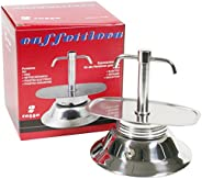 Bialetti Espresso Coffee Maker with Two Nose and Induction Base, Stainless Steel, Grey