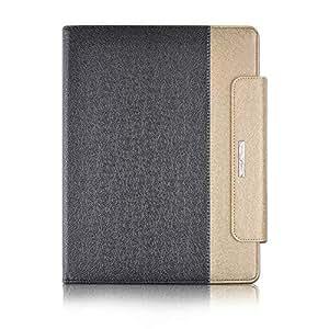 Thankscase iPad Pro 12.9 2018 版保护套,360 度旋转支架保护套,带苹果铅笔架、钱包口袋、手带、智能保护套(不适合 2015/2017 年发布) For iPad Pro 12.9-inch