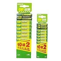 GP 超霸 5号电池10送2+7号电池10送2 两卡装超值实惠装(供应商直送)