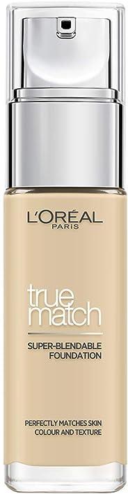 L'Oreal Paris 巴黎欧莱雅 True Match绝配无暇粉底液 1W Golden Ivory 30ml