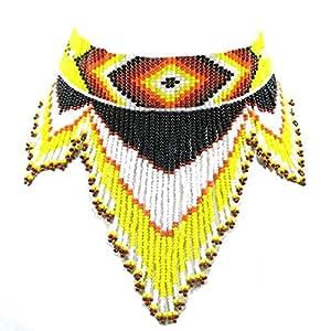VivaApparel 自然风格种子串珠吊坠项链耳环 S-17-SB-1