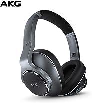 AKG N700NC 头戴式可折叠无线耳机,主动降噪耳机 - 银色(美国版)