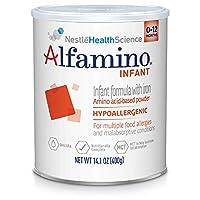 Alfamino Infant嬰兒含鐵天然氨基酸奶粉14.1盎司(400g)/罐