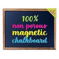 Cedar Markers 黑板,带木框。 * 无孔可擦黑板和白板,适用于液体粉笔。 每项活动的磁铁板装饰性布告板 黑色 24x18 CM24X18N