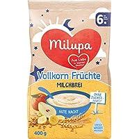 Milupa Gute Nacht Milchbrei Vollkorn Früchte, 5er Pack (5 x 400 g)
