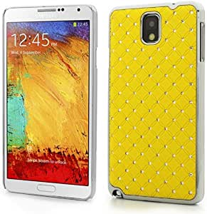 JUJEO Bling Diamond Starry Sky PC Hard Cover for Samsung Galaxy Note 3 N9000 N9002 - Non-Retail Packaging - Yellow