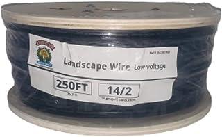 (2 件套)250 英尺 14 号 2 导体低电压地下直接埋葬景观照明电缆线,黑色