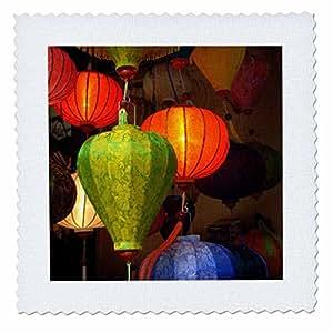 3D Rose 越南彩色布景灯笼用于出售 Hoi an Quilt Square 30.48 x 30.48 厘米,30.48 x 30.48 厘米