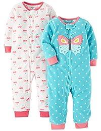 Carter's 卡特 女童 连体睡衣裤(无袜套) 两件装