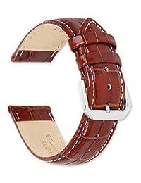 deBeer124-20Wmm Analog 皮革 棕色 124-20Wmm 表带