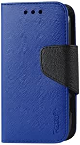 Reiko 3 In 1 Wallet Case for ZTE Sonata 4G Z740G with Interior Polymer - Retail Packaging 海蓝色