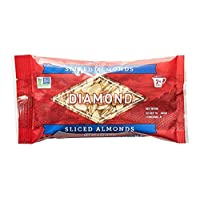 Diamond of California 杏仁片,不加盐,6 盎司(约 170.1 克)(6 包装)