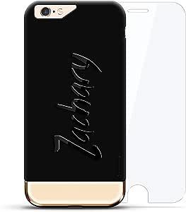 设计师手机壳LUX-I624K360-NMZACHARY1 Zachary, Hand-Written First Name Velvet Black & Gold