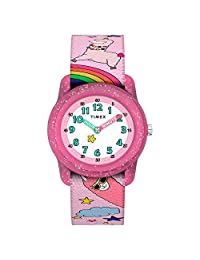 Timex Unisex-Children GirlsTW7C838009J  Analog Fabric 粉色 TW7C838009J watches