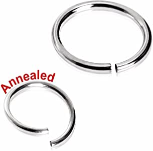 316L Surgical Steel Annealed Seamless Ring (Sold Individually) 18g 8mm