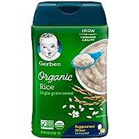 Gerber Baby Cereal Organic Single-Grain Rice, 8 oz