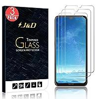J&D 兼容諾基亞 5.3 玻璃屏幕保護膜,3 件裝 [鋼化玻璃] [非全覆蓋] 高清透明彈道玻璃屏幕保護膜適用于諾基亞 5.3 玻璃膜 3 包