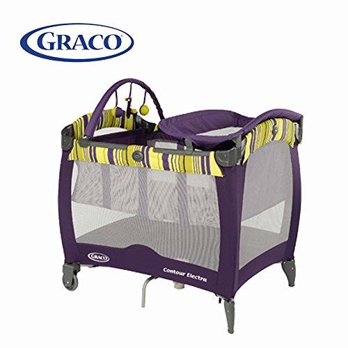 GRACO 葛莱婴儿床便携式儿童游戏床 午睡尿布更换台 (深紫色) 1882041