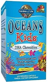 Garden of Life 生命花园 Oceans儿童DHA咀嚼片,浆果青柠口味,120片