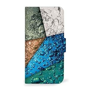 mitas 智能手机壳 手册式 水 海 玻璃SC-0342-A/g04 4_AQUOS (g04) A