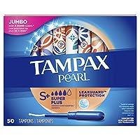 Tampax Pearl 塑料卫生棉条,*吸收能力,无香味,50 支装