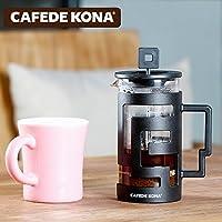 CAFEDE KONA咖啡壶 家用玻璃过滤杯滴漏法式滤压壶冲茶器 法压壶迷宫法压壶(ck8900)白色350ml