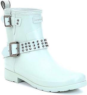 Hunter Boots 精致脚踝铆钉自行车雨靴 - 海喷雾