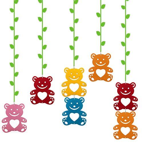 无纺布藤条 吊饰挂饰 无纺布树叶幼儿园吊饰 装饰墙贴 小熊带一米树枝
