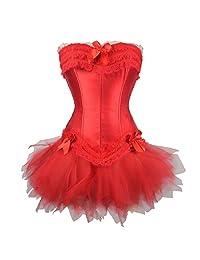 TOPMELON 女式性感哥特式系带紧身胸衣连衣裙短裙