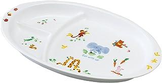 NARUMI(Narumi) 大家一起玩吧! 兒童餐盤 28cm 40433-5554 日本制造 可用于微波爐加熱