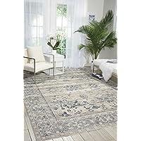 NOURISON 99446361387 - 象牙/蓝色地毯,象牙色/蓝色,5英尺3英寸x 7英尺7英寸(约1.6米x2.3米)