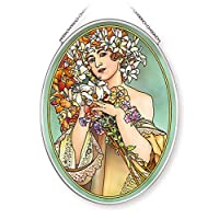 Amia 手绘玻璃吊饰带花朵设计