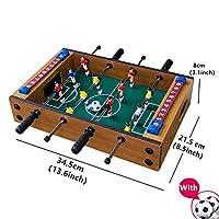 桌上足球桌,木制迷你桌面台球游戏,轻松组装足球桌面比赛游戏,桌面拼图手指战斗运动足球游戏,街机足球桌,家庭游戏
