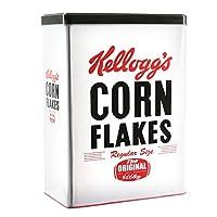 Kellogg's' S kg30683 谷物盒,金属,白色/黑色,18.5 x 10.3 x 25 厘米