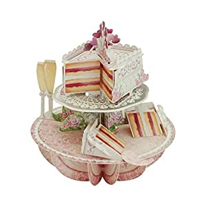 Santoro Pirouettes 弹出式卡片 婚礼蛋糕