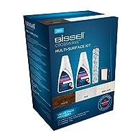 Bissell CrossWave 配件套装 原装 2 x 1 升 多面清洁剂 多面刷滚筒 1 x 过滤器 2815,混合 1