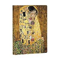 Paperblanks 迷人的手写笔Gustav Klimts 100。 Todestag The Kuss 笔记本 Midi 无线条特殊版 (特别版)