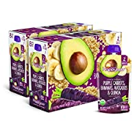Happy Baby 禧贝 透明装婴儿食品2段 紫萝卜&香蕉&牛油果&藜麦泥, 4盎司(113克)袋,共计16袋