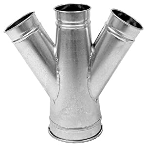Nordfab Ducting 3226-1308-212045 QF 双分支 45 度 13-8-12-4,13 英寸直径,SS 304