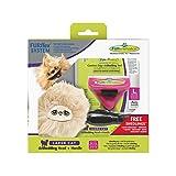 FURminator furflex , 美容梳子适用于大猫 , deshedding - 工具的距离的子羊毛 , 尺码 L 粉红色 L