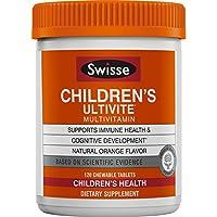SWISSE 兒童Ultivite每日綜合維生素,橙味 適合2-12歲的兒童| 120粒咀嚼片